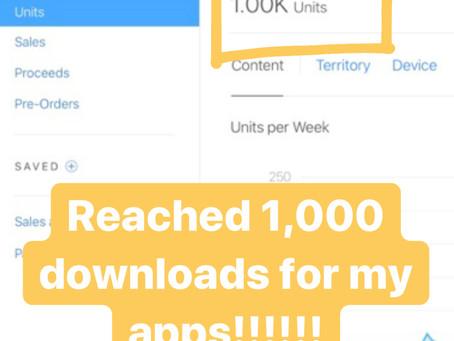 1,000 DOWNLOADS!!!