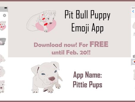 Pit Bull Emoji App Now RELEASED 2020!!!
