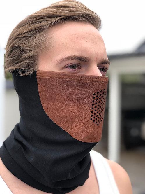 Brun Lädermask