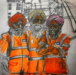 Cross Rail workers