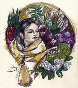 Borough Market Flower Girl