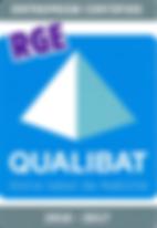 Certification RGE Qualibat 2017