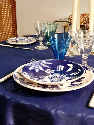 Assiette golgoli bleue