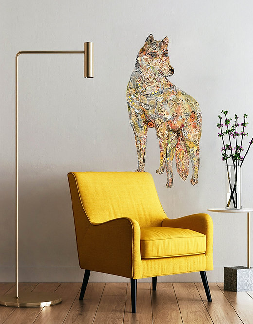 Magnificent Wolf - Peel & Stick Removable Wall Art