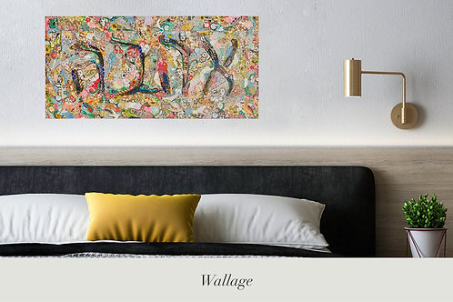 Love Sign (Ahava) - Peel and stick Wall Art By Wallage