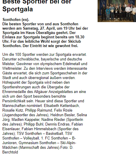 Sportgala nominierung