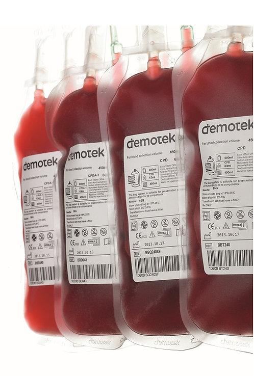 Счетверенный контейнер для крови Demotek