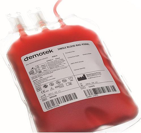 Одинарный контейнер для крови Demotek