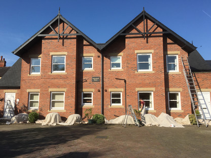External Painting to a block of flats Woodhall Spa lincolnshire
