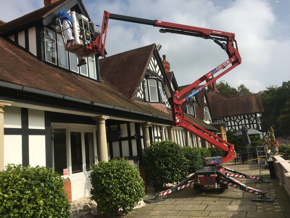 External painting of the Petwood Hotel Woodhall spa Lincolnshire