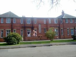 External painting St Hughes school Woodhall spa