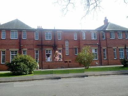 Painting St Hughes School Woodhall Spa