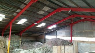 Steel beam fireproofing