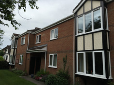 Commercial painting of a block of flats woodhall spa