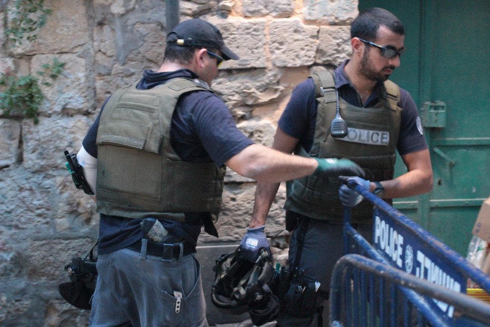 Police respond to the scene of a terrorist attack in Jerusalem, 2018