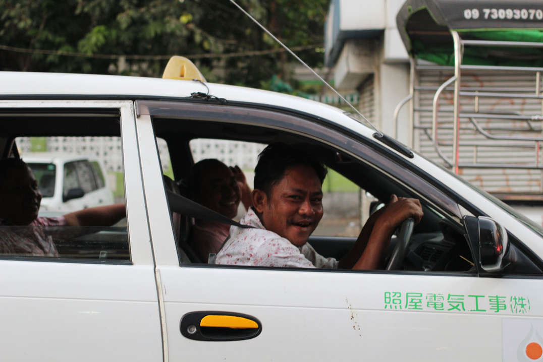 Taxi driver in Yangon, Myanmar, February 2017