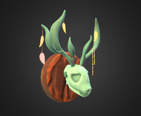 Skull of unfamiliar creature