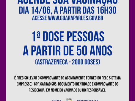 Guarapari abre novo agendamento para pessoas acima de 50 anos