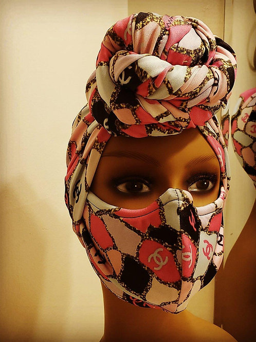 Chanel Head Wrap Set