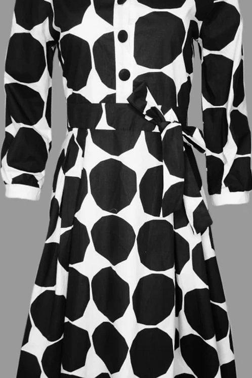 Black & White Polka- Dot Dress