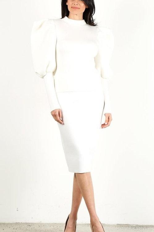 White 2pc Suit