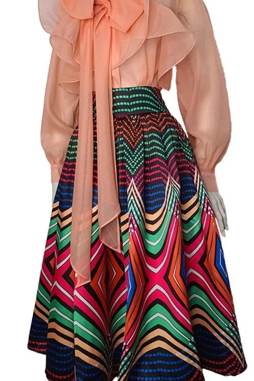 Retro Striped Skirt