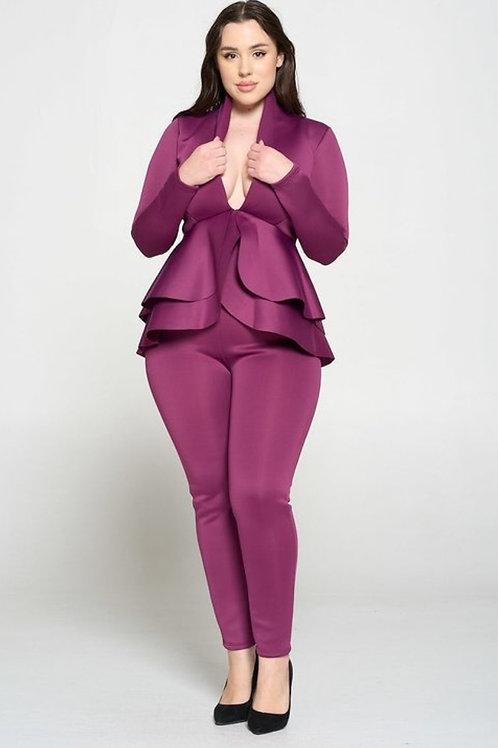 Plum 2  Pc Suit