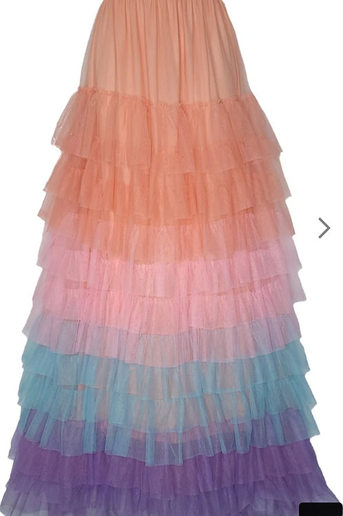 Long Layer Tulle Skirts