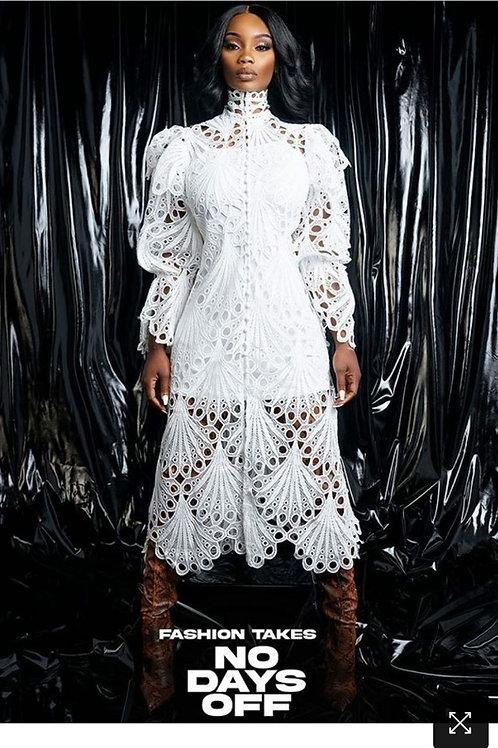 White  Butterfly Dress