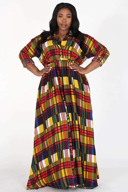 Plaid Dress or Duster