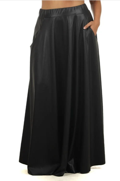 Faux Pleated Skirt