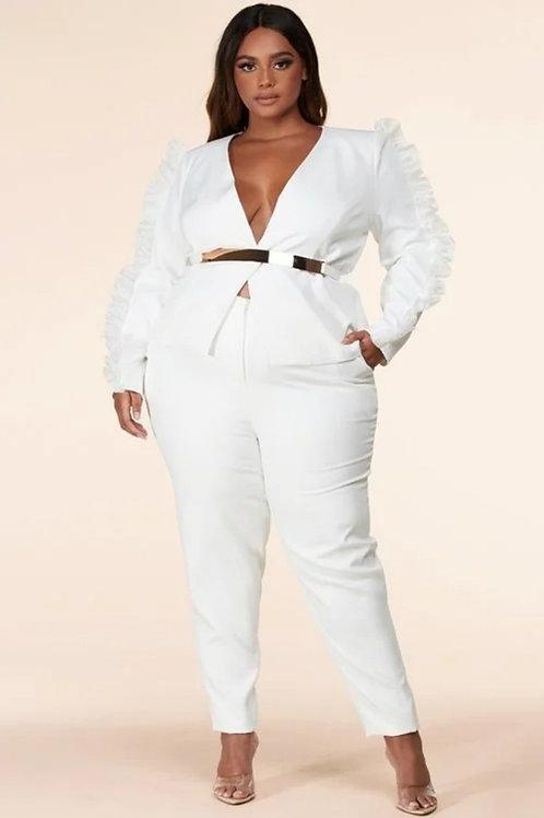 White Pants Suit
