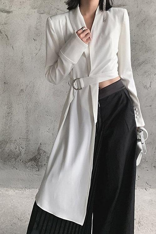 White Jacket Top