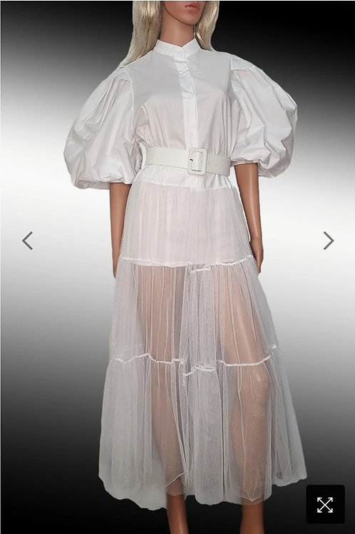 Puffy Sleeves Dress Top