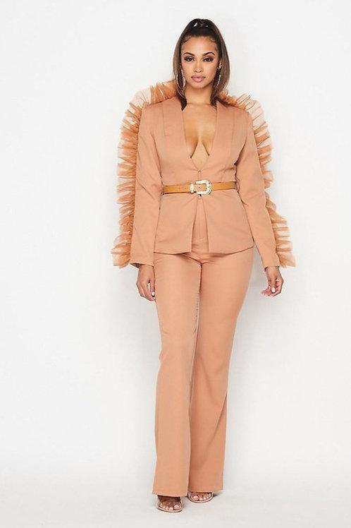Brown Pantsuit