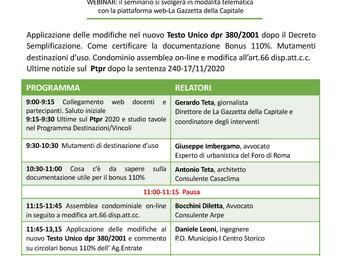 Webinar - Evento formativo 29 Gennaio 2021 Ore 9:00-13:30