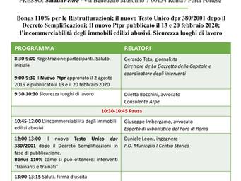 Evento formativo 30/09/2020 - Ore 8:30-13:30