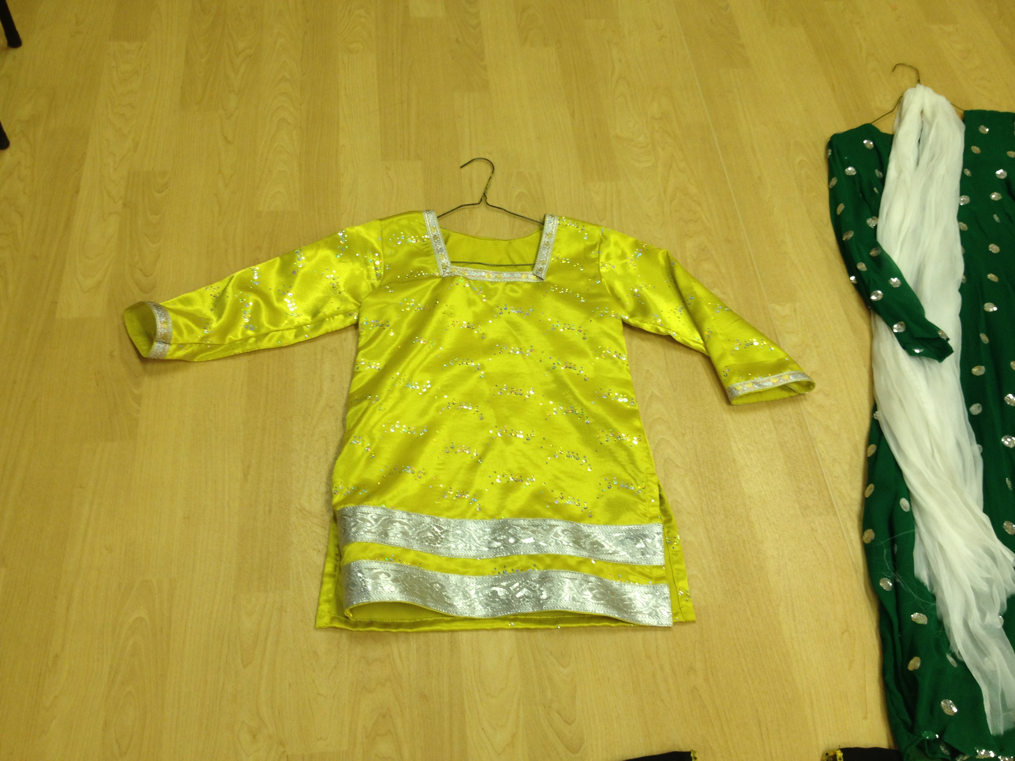 Sparkly Yellow Kurti Top