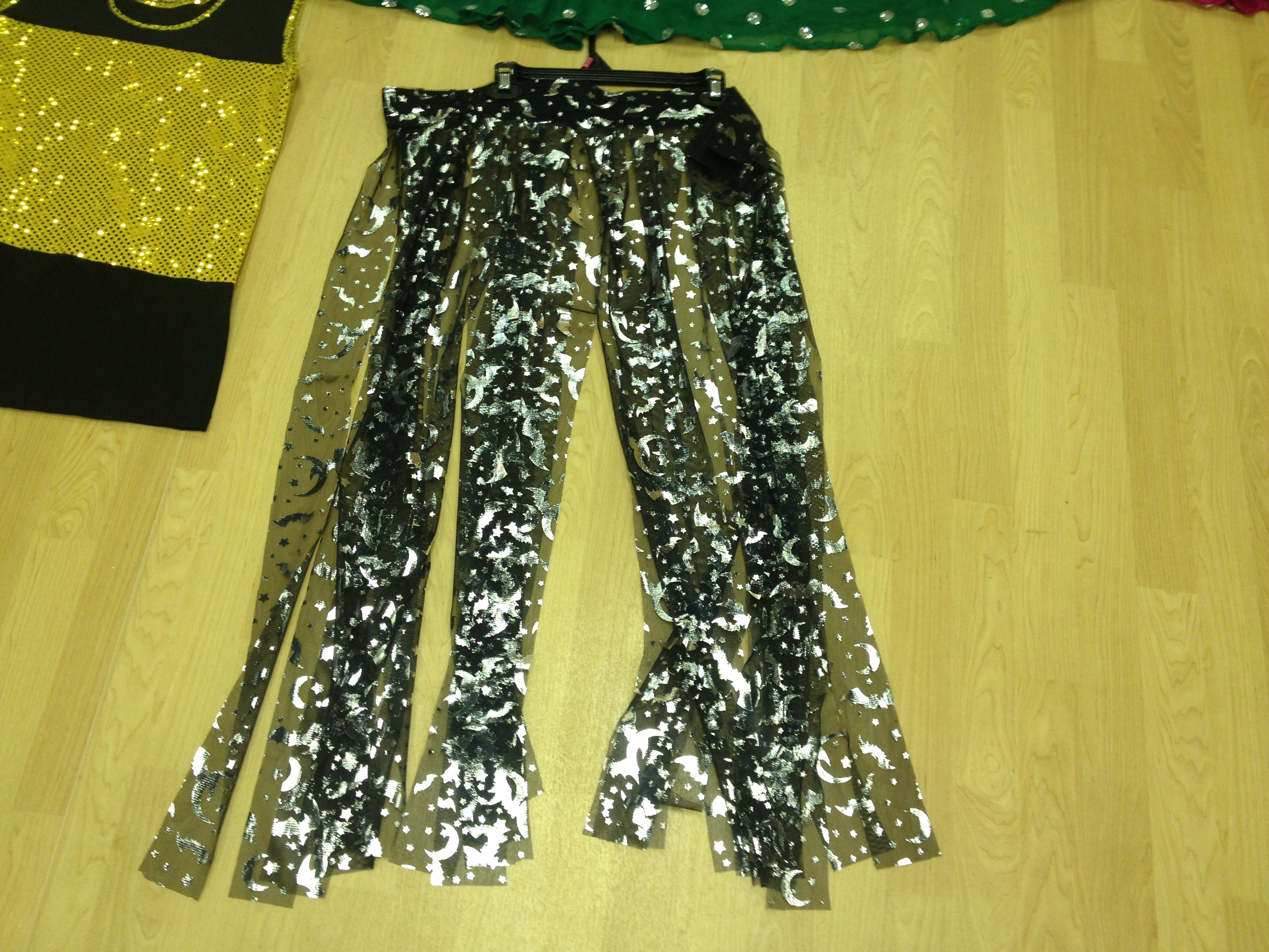 Silver Foil Black Strips Skirt