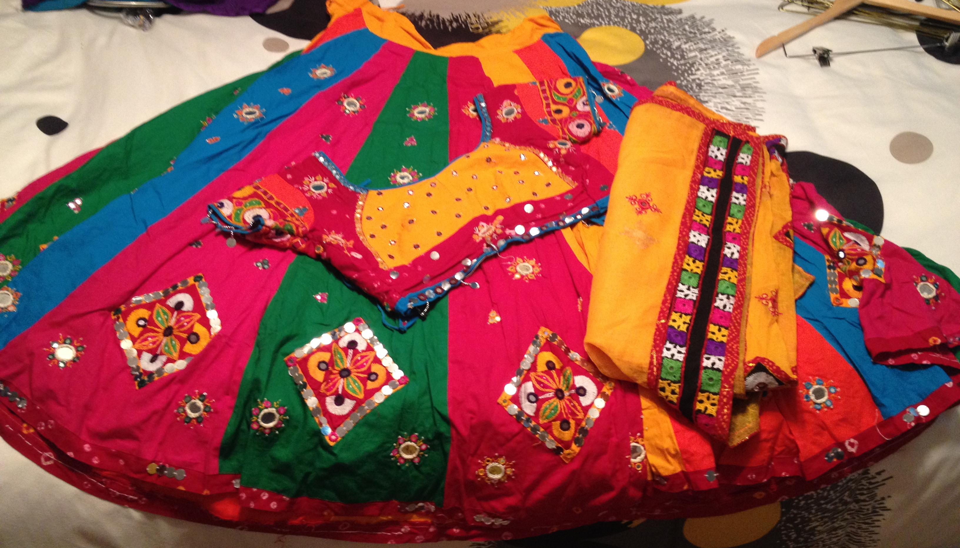 Colorful Ghagra Blouse Dupatta