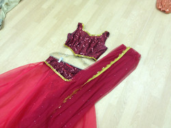 Beautiful Red Ghagra