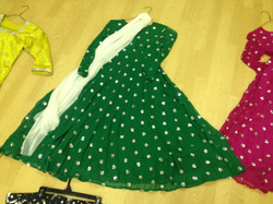 Anarkali Green Kameez Dress - NEW