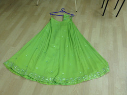 Green Lengha with flare