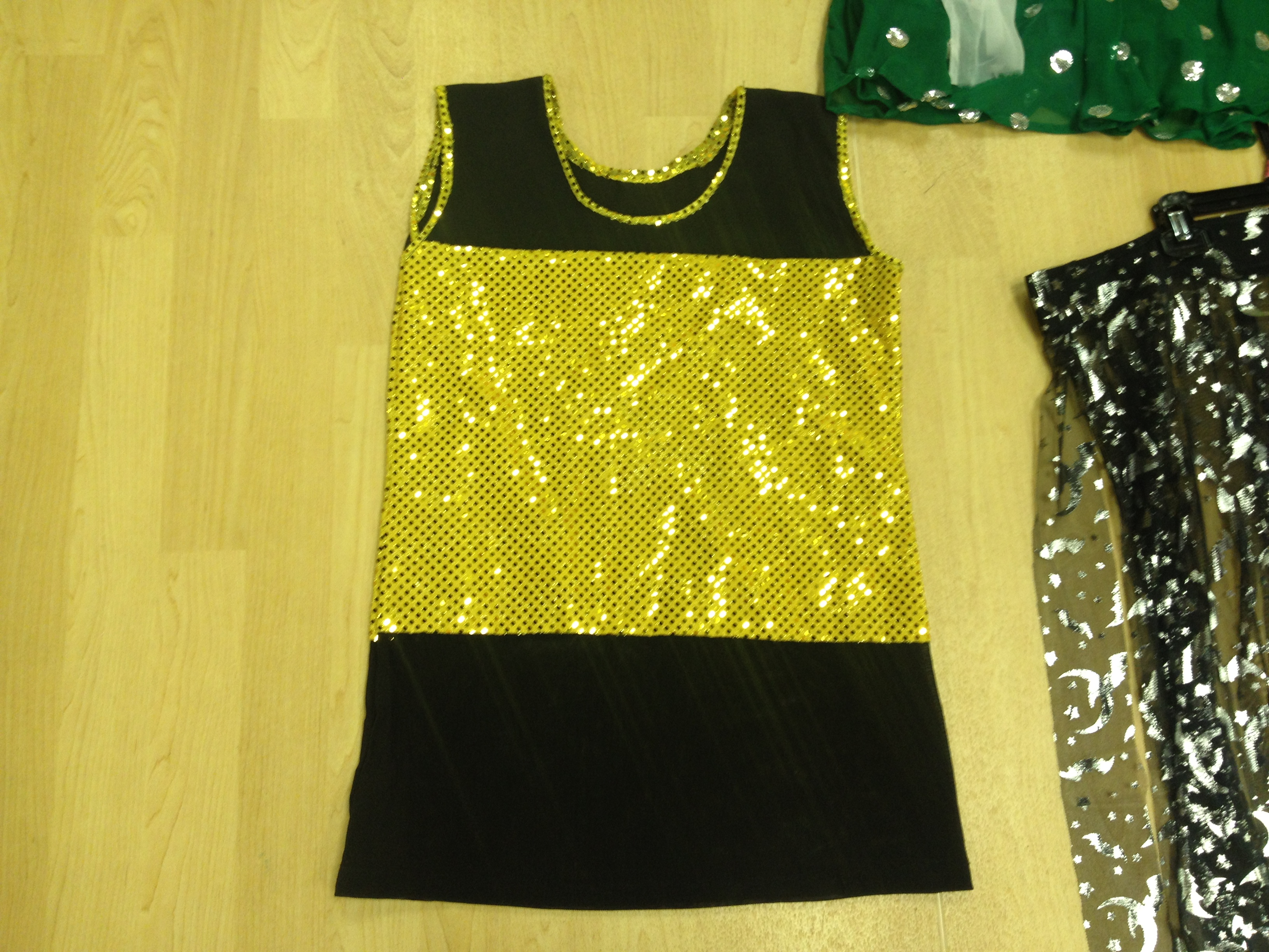 Sparkle Gold & Black Mesh top