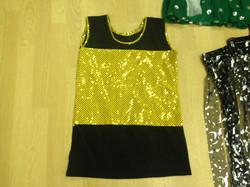 Sparkle Gold & Black Mesh top
