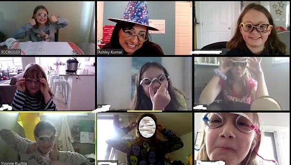Screenshot of online kids coaching group