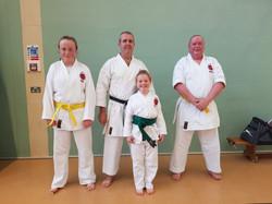 Karate grading success Steveley
