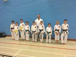 Karate grading success Mansfield