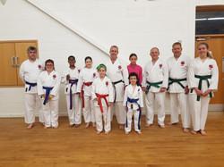 Karate grading success Dronfield