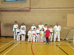 Karate grading success Sutton In Ash